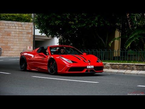 4x Ferrari 458 Speciale Aperta in Monaco ! Revs & Accelerations