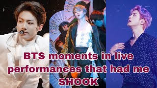 Download lagu BTS moments in live performances that had me SHOOK