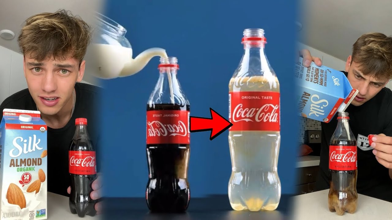 With this trick you can make a coke bottle CLEAR!! 😍 - #Shorts