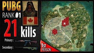 PUBG Rank 1  - Kaymind 21 kills NA Solo FPP - PLAYERUNKNOWN'S BATTLEGROUNDS