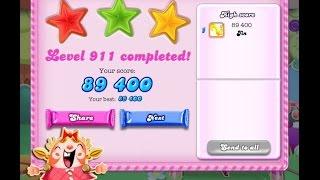 Candy Crush Saga Level 911    ★★★   NO BOOSTER