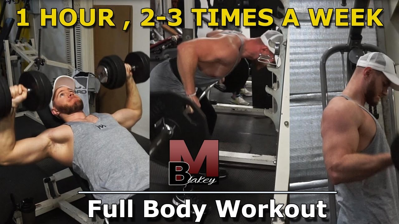 Full Body Workout For Minimum Gym Time - 1 Hour, 2-3 Times A Week