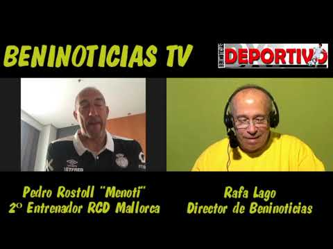 "Vídeo entrevista con el 2º entrenador del RCD Mallorca, Pedro Rostoll Rodriguez ""Menoti"""
