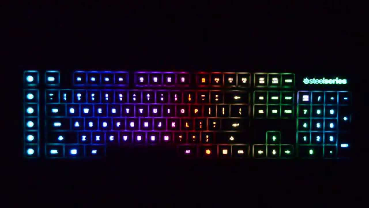 Steelseries Apex M800 Light Effects Youtube