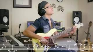 Hector Lavoe - Triste y vacía (partitura del bajo/bass cover with chart)