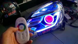 CUSTOM HEADLAMP HONDA MOBILIO RS BY BAIM PROJIE