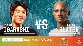 Kanoa Igarashi vs. Kelly Slater - Round of 16, Heat 4 - MEO Rip Curl Pro Portugal 2019