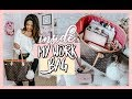 WHAT'S INSIDE MY WORK BAG | LOUIS VUITTON NEVERFULL MM