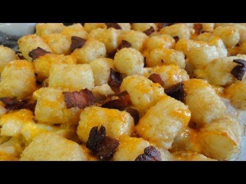 Cheesy Chicken Tater-tot Casserole