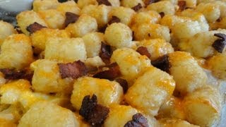 Cheesy Chicken Tater-tot Casserole