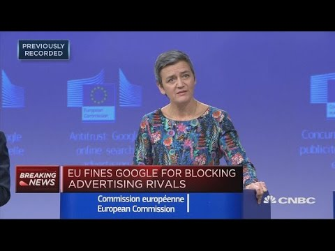 EU fines Google $1.7 billion for breaking antitrust rules | Squawk Box Europe