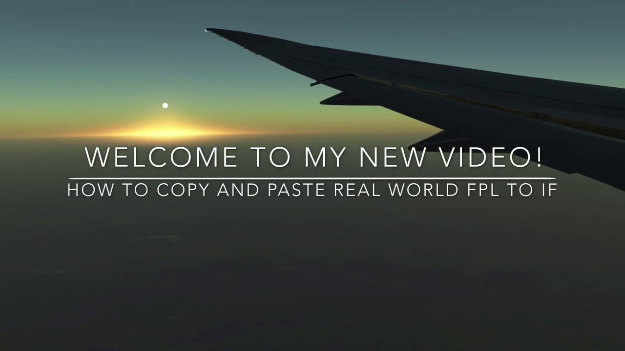 How to copy & Paste a Real World Flight Plan to Infinite Flight