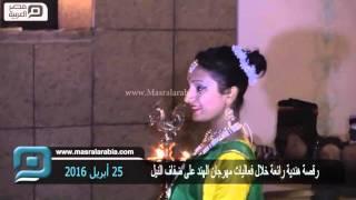 مصر العربية   رقصة هندية رائعة خلال فعاليات مهرجان الهند على ضفاف النيل