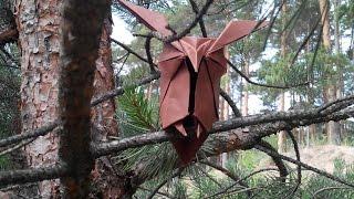 Поделки из бумаги - Сова -  оригами для начинающих