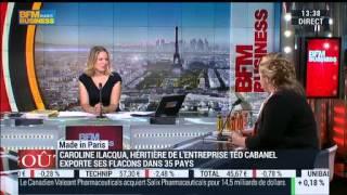 Caroline Ilacqua sur BFM Business - Téo Cabanel Créateur de Parfums Rares - Goûts de Luxe Paris
