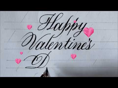 How To Write Happy Valentines Day In Cursive Writing Cursive