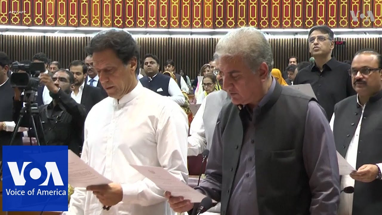 Pakistan swears in newly elected members of parliament including Imran Khan