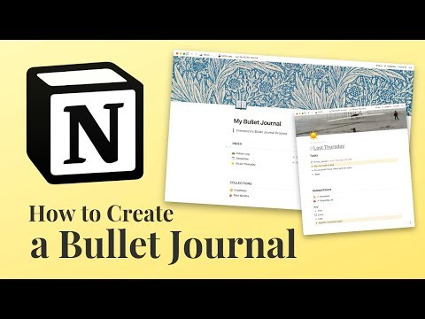 How to Create a Bullet Journal in Notion