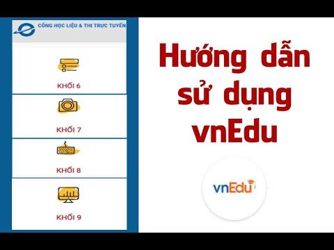 Hướng dẫn sử dụng vnEdu