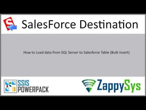 Salesforce bulk insert using SSIS - load from SQL Server