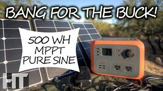 """The """"BABY BLUETTI"""" 500wh Solar Generator! MAXOAK Bluetti AC50 Portable Power Station Review"""