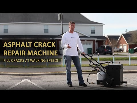 Asphalt Crack Repair Machine - Fill Cracks At Walking Speed!