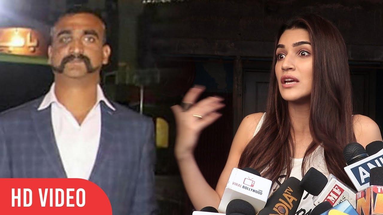 Kriti Sanon Reaction On IAF Wing Commander Abhinandan Welcome Back