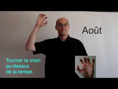 Les dates en langue des signes française