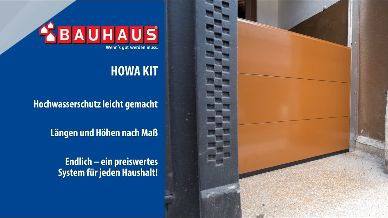 hochwasserschutz von masys bauhaus youtube. Black Bedroom Furniture Sets. Home Design Ideas