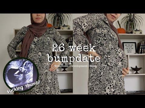 26 WEEKS PREGNANCY UPDATE | BUMPDATE | CURRENT SYMPTOMS & BABY DEVELOPMENT