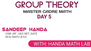 Group Theory||day 5||