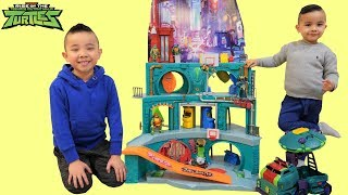 BIGGEST Ninja Turtles EPIC SEWER LAIR Playset Ever CKN Toys