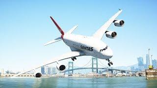 Huge Airplanes Landing Into The Ocean | GTA 5