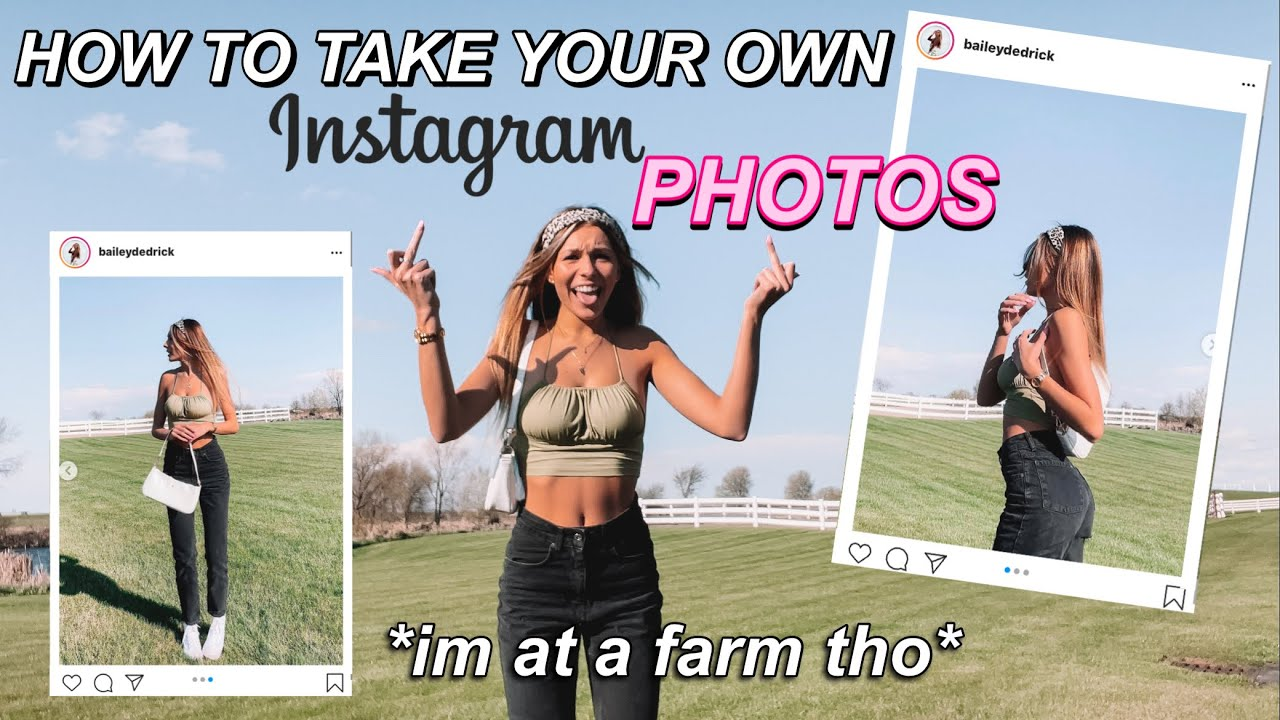 how i take my own instagram pics (drive w/ me to the middle of nowhere)