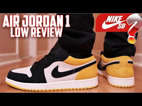 "air-jordan-1-low-sail/university-gold-""nike-sb""-review-and-on-feet!"