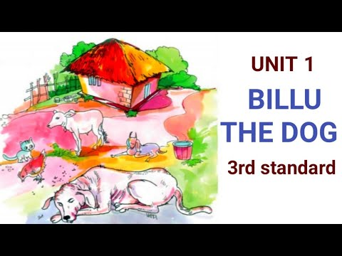 Download 3rd standard ENGLISH UNIT 1 scert textbook/ BILLU, THE DOG