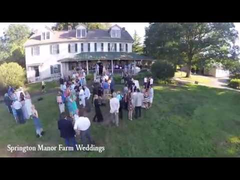 Philadelphia Weddings at Springton Manor Farms  | Drone Video