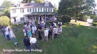 Philadelphia Weddings at Springton Manor Farms  | Drone Video