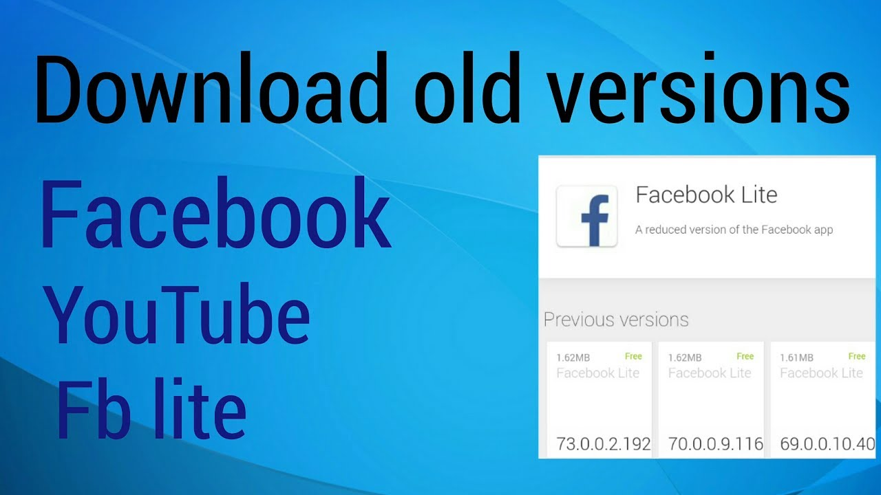 Facebook old download