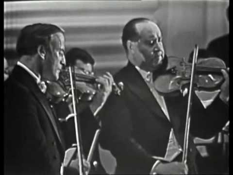 Yehudi Menuhin and David Oistrakh play Bach Double Concerto for Violins