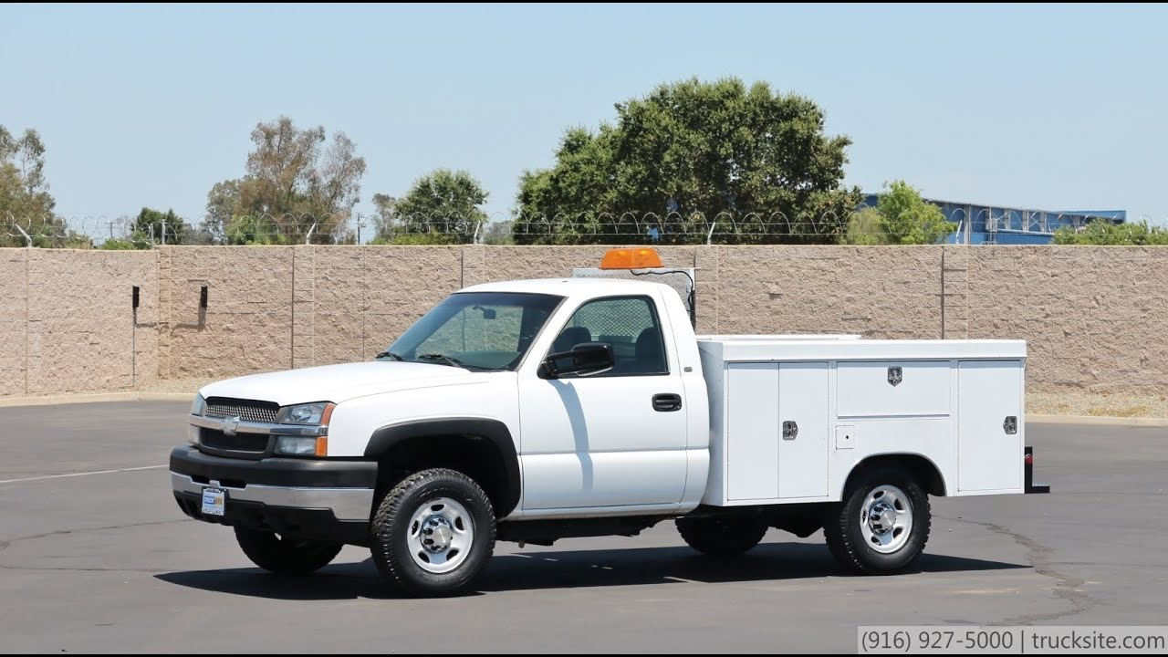 All Chevy 2003 chevy 2500hd : 2003 Chevrolet 2500HD 4x4 Utility Truck for sale - YouTube