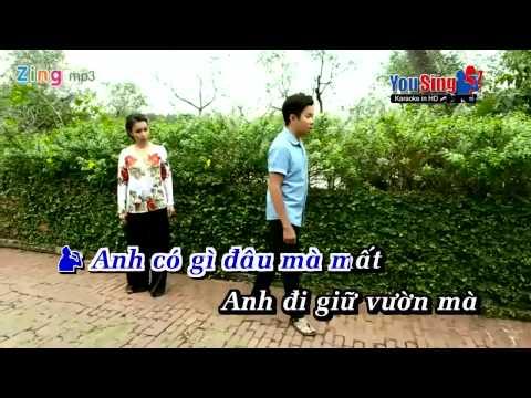 Karaoke Anh Di Giu Vuon Cam Ly & Quoc Dai