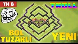Clash of Clans - 8.Seviye Köy Düzeni Savunma (CoC TH8) En İyi TROLL Düzeni [BOL TUZAKLI]