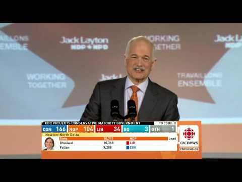Jack Layton's election night victory speech