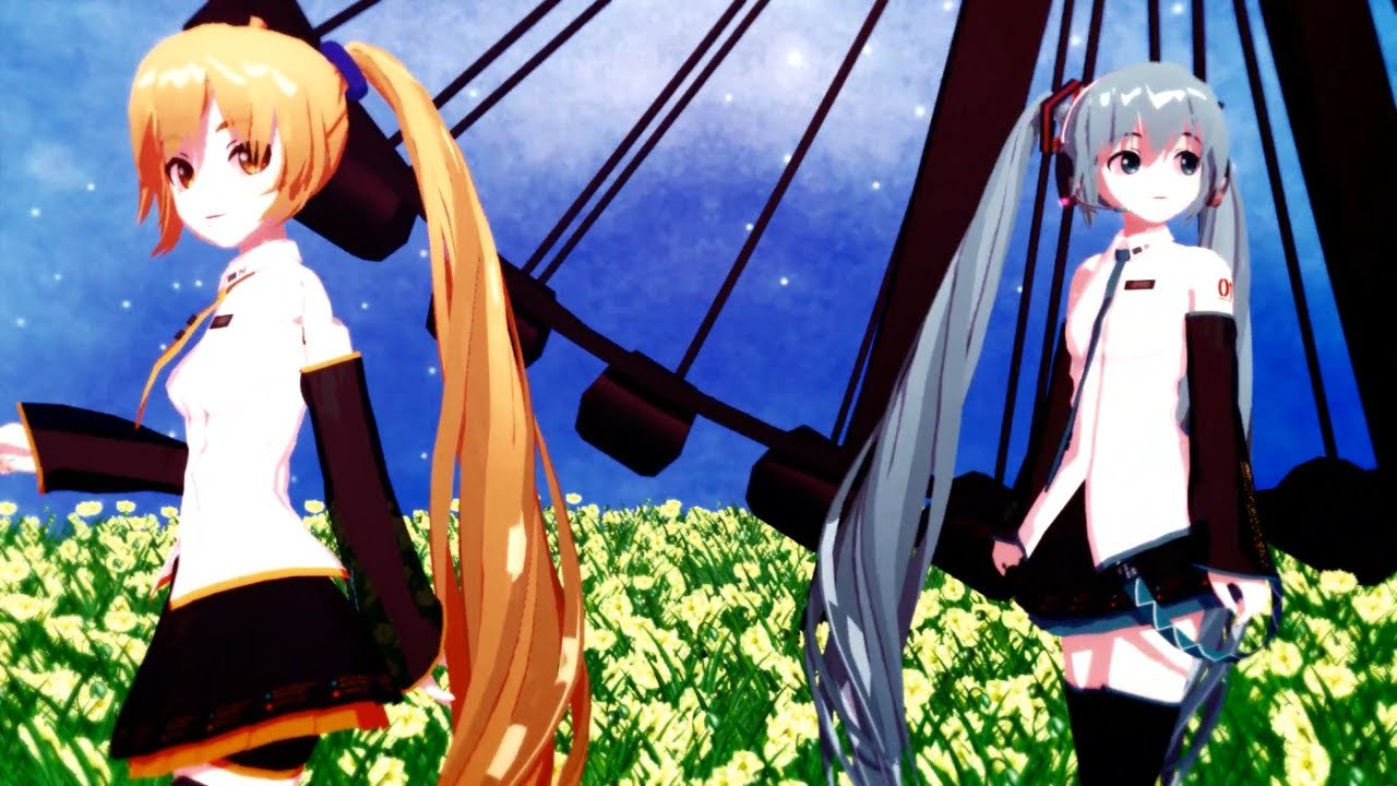 [MMD] Vocaloid Group (Youtube Banner) by CrazyImmor on