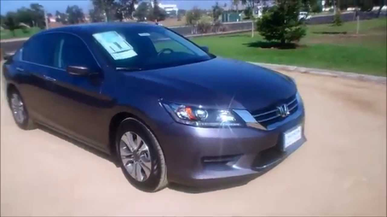 2015 Honda Accord Lx Sedan Gray Youtube