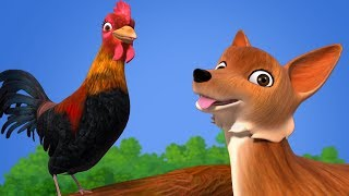 The Fox and the Cock   Bengali Stories for Kids   Infobells