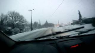 Snow drive entre St. Lunaire et la route pour aller a Pleurtuit...Un peu de rodeo