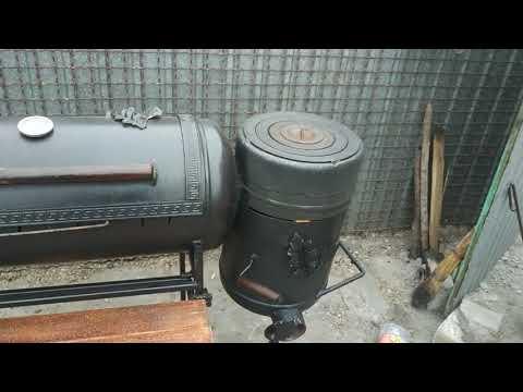 Мангал из газовых баллонов(смокер) 3в1