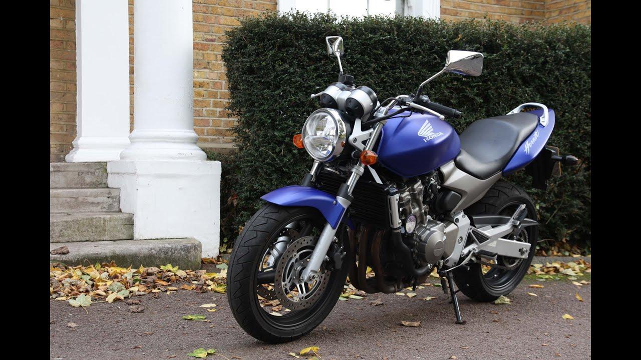 honda hornet cb600 motorcycle 2004 walk around and engine startup